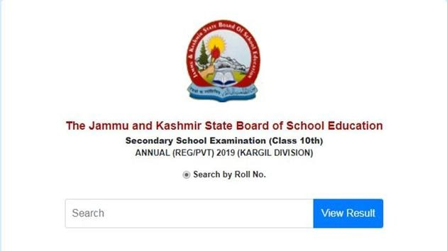 The Jammu and Kashmir Board of Secondary Education (JKBOSE) on Friday declared the JKBOSE 10th annual (Regular/Private) Result 2019 for Kargil Division.(JKbose.ac.in)