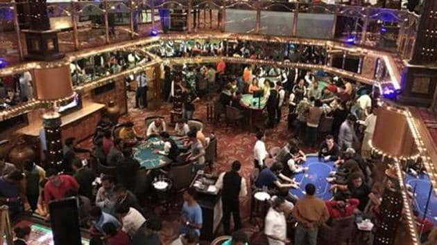 The opposition parties in Goa were pressing for a ban on Goans entering Casinos in the state.(HT Photo)