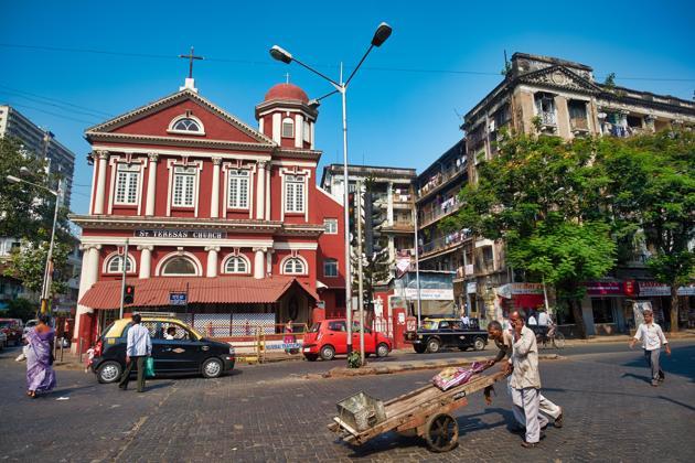 St Teresa's Church at Charni Road is close to the south Mumbai neighbourhood of Cavel.(Alamy Stock Photo)