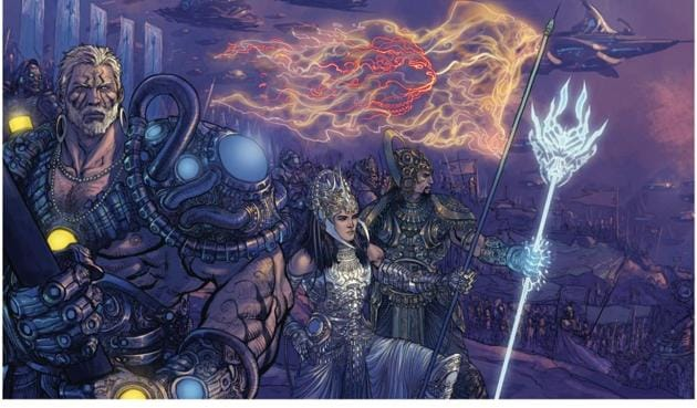 A still from the motion comic, 18 Days: The Mahabharata. The aim, say comic book and film companies, is to offer their content, its identity intact, to an audience that would not otherwise encounter their titles.(Graphic India)