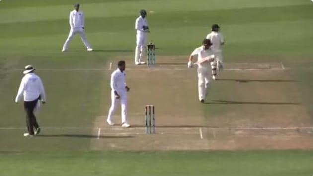 India A vs New Zealand A unofficial test(Screen grab)