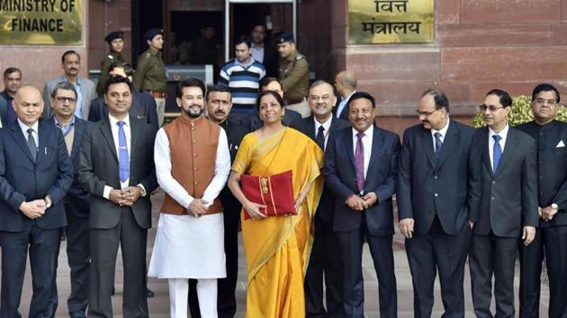 Finance Minister Nirmala Sitharaman underlined that the NDA government will continue to push for the next phase after its initial target of making India open defecation free (ODF). The ODF Plus will focus on better waste management to ensure higher levels of cleanliness.(AJAY AGGARWAL/HT PHOTO.)