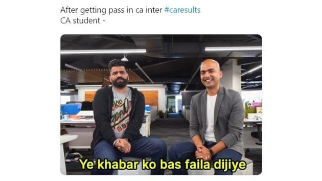 People dropped all sorts of CA results memes.(Twitter/@AnujGahlawat4)