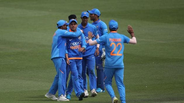 Indian U19 cricketers during a match in the ICC U19 Cricket World Cup.(Getty Images)