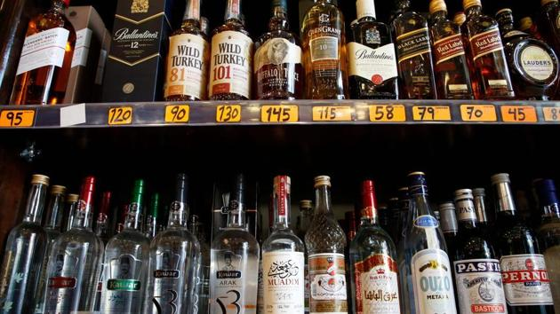 The excise policy for 2020-21 will lead to nearly 5% hike in the prices of Indian Made Foreign Liquor, with each bottle costing ₹25 to ₹35 dearer.(FILE PHOTO)