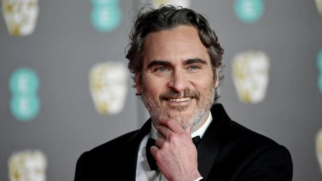 Joaquin Phoenix arrives at the British Academy of Film and Television Awards (BAFTA) at the Royal Albert Hall in London.(REUTERS)