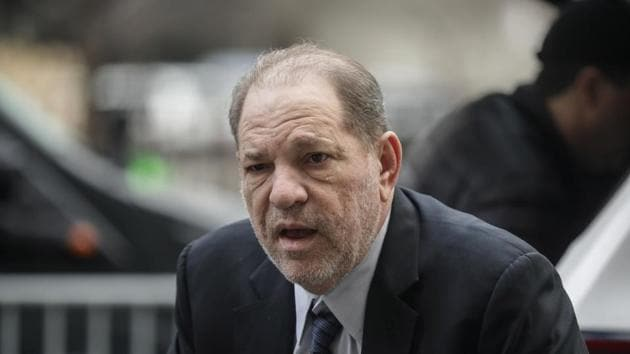Harvey Weinstein arrives at New York Criminal Court in Manhattan.(REUTERS)