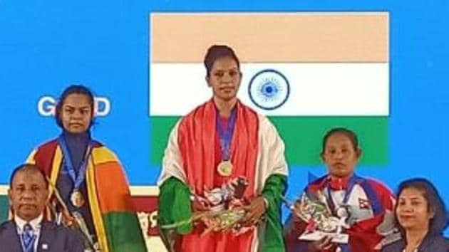 Rakhi Halder wins 64kg gold with a lift of 210kg(Ministry of Railways/ Twitter)