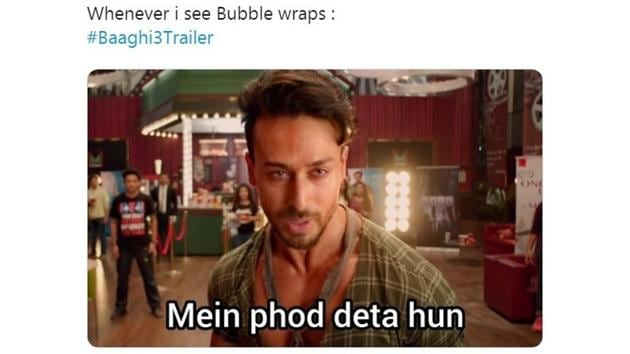 Baaghi 3 trailer has sparked lots of reactions.(Twitter/@theNitinWalke)