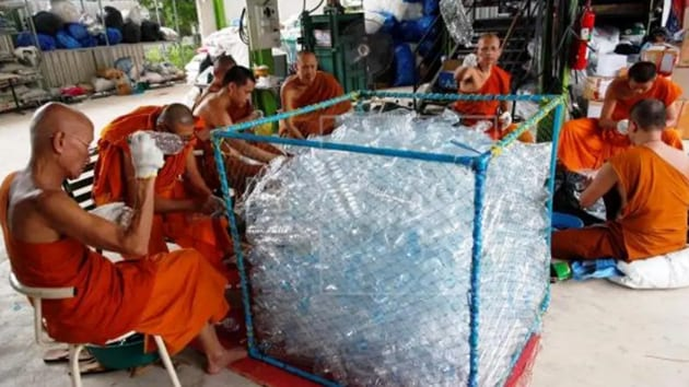 The recycling temple of Wat Chak Daeng is one bright example of recycling for Thailand, one of five countries that account for more than half of plastic in the world's oceans.(Facebok/ Wat Chak Daeng)