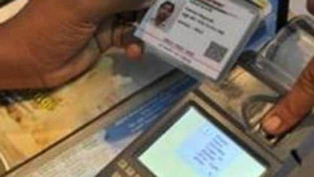 The Aadhaar linking proposal was first put forward in a petition filed in the Madras high court in July 2018(AFP/ Representative Image)
