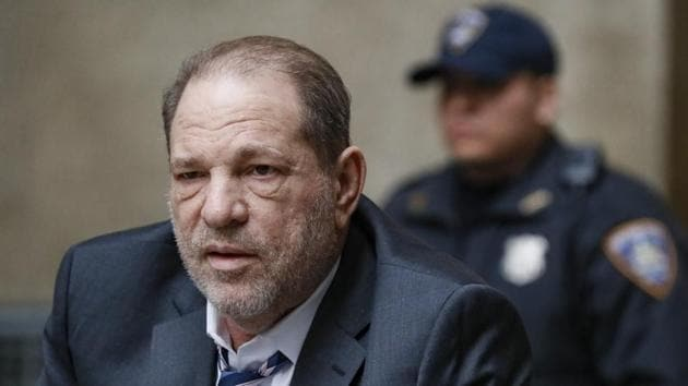 Harvey Weinstein departs a Manhattan courthouse for his rape trial.(AP)