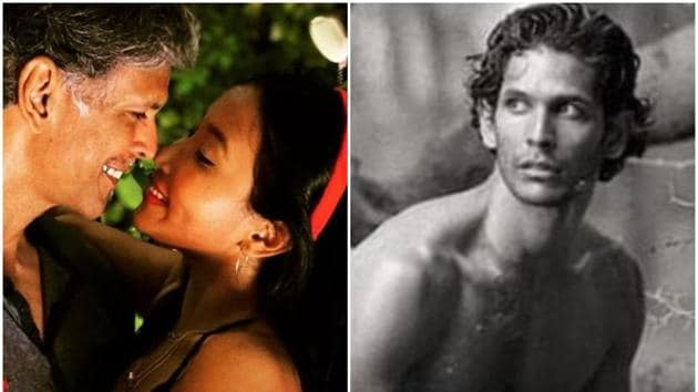 Milind Soman shared a picture from his modelling days on Thursday.(Instagram)