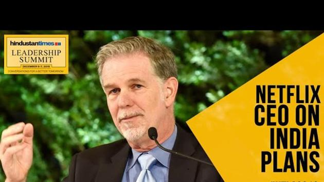Reed Hastings, the founder and Chief Executive Officer of streaming service firm Netflix, attended the Hindustan Times Leadership Summit 2019. Hastings revealed the company's plans for India which include an investment of Rs 3000 crore for creation of original content for the country.