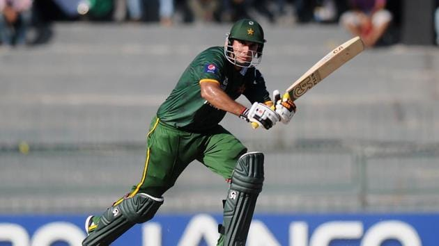 Nasir Jamshed bats during the ICC World Twenty20 2012 Super Eights Group 2 match between Australia and Pakistan at R. Premadasa Stadium.(Getty Images)
