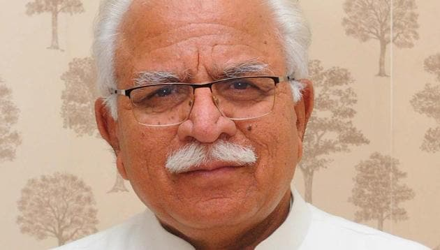 Haryana CM Manohar Lal Khattar also made a reference to hiring unskilled workers by the industry while talking about the private job quota, thus indicating that the proposed job quota could only for the unskilled workers.(HT Photo)