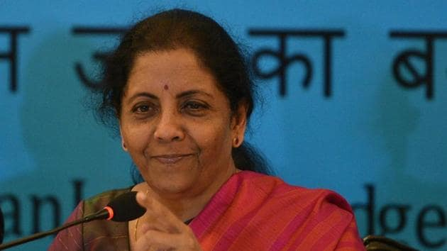 Union Finance Minister Nirmala Sitharaman has said this year's Budget has laid the foundation for a five trillion dollar economy with a majority of the government's expenditure being for building infrastructure.(SAMIR JANA/HT PHOTO.)
