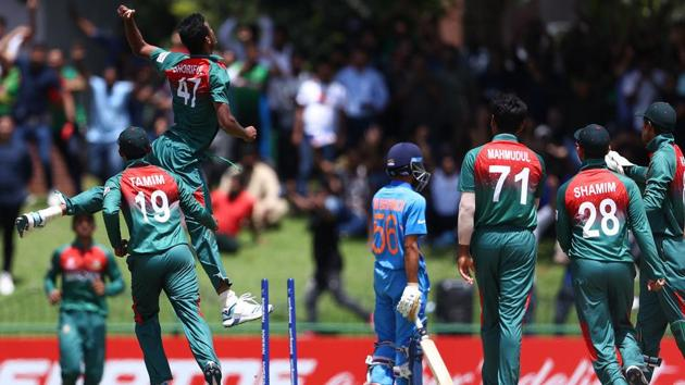 Bangladesh beat India in final.(Cricket World Cup/Twitter)