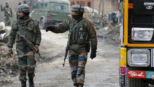 Army personnel patrol near the site of encounter in Tral. Image used for representational purpose only.(ANI/ File Photo)