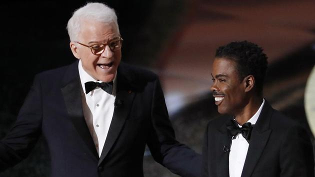 Steve Martin and Chris Rock appear on stage at the 92nd Academy Awards in Hollywood, Los Angeles, California.(REUTERS)