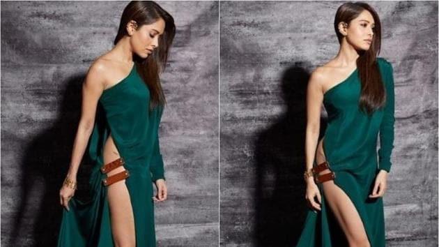Nushrat Bharucha wore a bold dress to a recent film awards event.