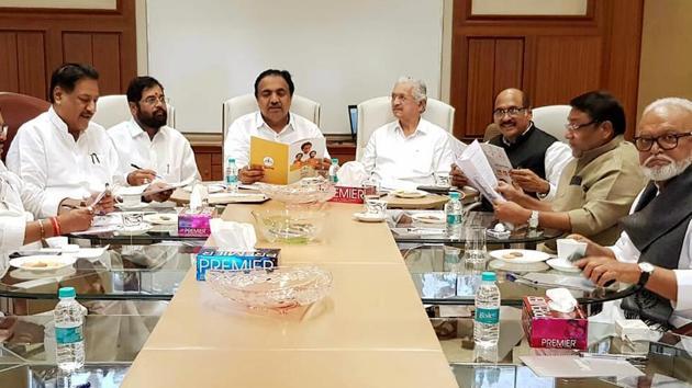 Senior leaders of Shiv Sena, NCP, and Congress(HT PHOTO)