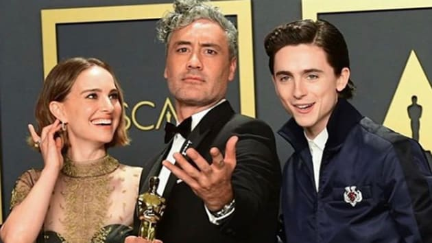 Natalie Portman made a real fashion statement at the 92nd Oscars' red carpet.(Natalie Portman/Instagram)