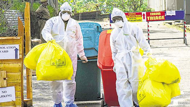 Both patients, medical students who returned from virus-hit Wuhan in China on January 24, will be allowed to leave the hospital once the NIV confirms observations of the state health department.(PTI PHOTO.)