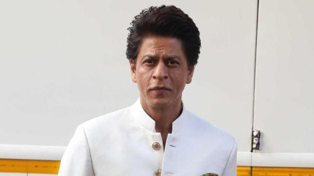 Actor Shah Rukh Khan on the sets of dance reality show Dance Plus 5.(IANS)
