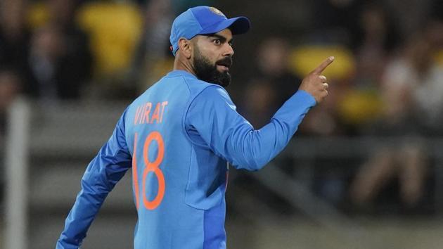 Virat Kohli during the Twenty/20 cricket international between India and New Zealand.(AP)