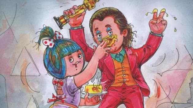 The controversial Amul ad in which butter is smeared on Joaquin Phoenix's face.