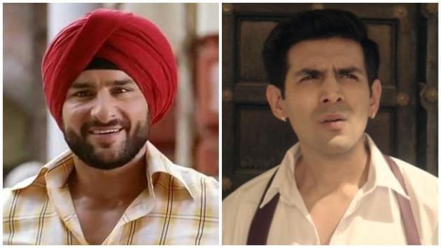 Saif Ali Khan and Kartik Aaryan played double roles in Love Aaj Kal films.