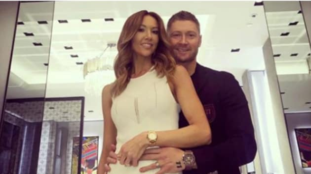 Michael Clarke with wife Kyly(Michael Clarke Instagaram)