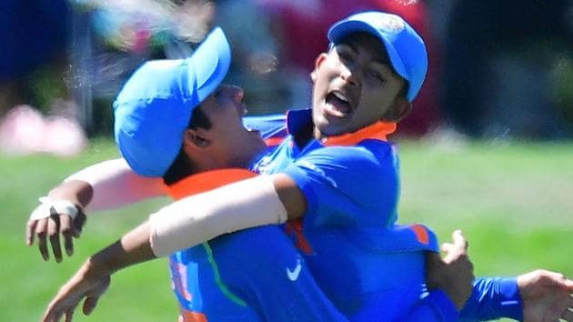 File image: India's Prithvi Shaw (R) with team mate Shubman Gill.(AFP)