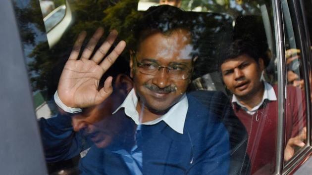 Chief Minister designate and AAP Chief Arvind Kejriwal(Amal KS/HT photo)