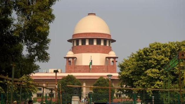 A view of the Supreme Court in New Delhi.(Amal KS/HT Photo)