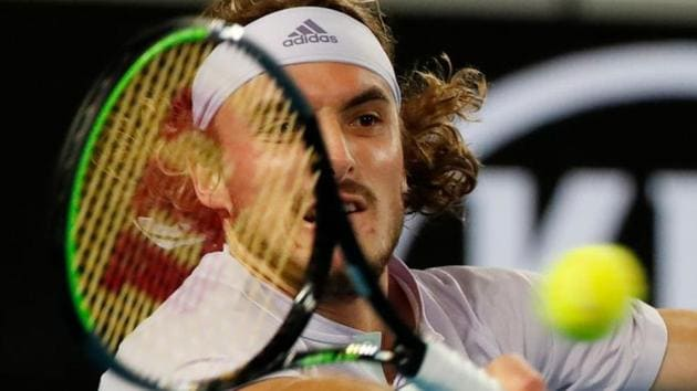 Greece's Stefanos Tsitsipas in action.(REUTERS)