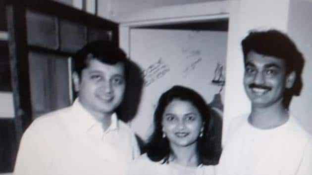 Dattaraj and Dipti Salgaocar with the late Wendell Rodricks at the opening of his first boutique in Goa.