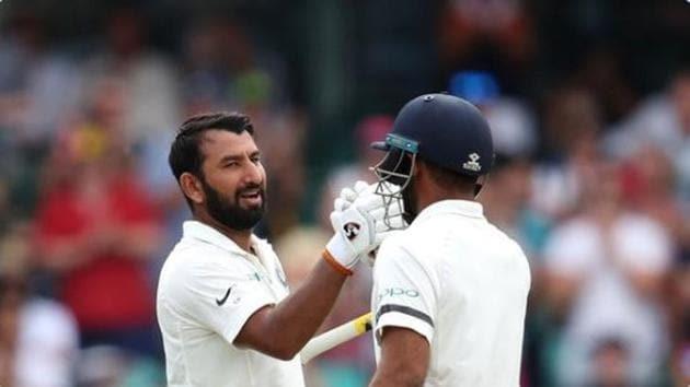 Cheteshwar Pujara and Hanuma Vihari(Twitter)