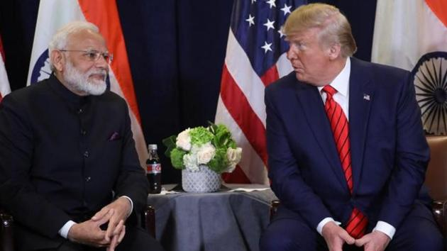 FILE PHOTO: U.S. President Donald Trump holds a bilateral meeting with India's Prime Minister Narendra Modi on the sidelines of the annual United Nations General Assembly in New York City, New York, U.S., September 24, 2019. REUTERS/Jonathan Ernst(REUTERS)