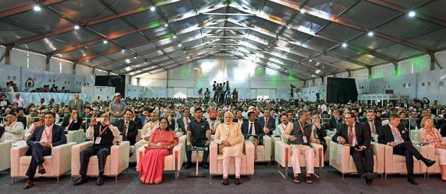 Prime Minister Narendra Modi at 1st Uttarakhand Investors Summit 2018 in Dehradun, Uttarakhand on October 07, 2018.(PTI File Photo)