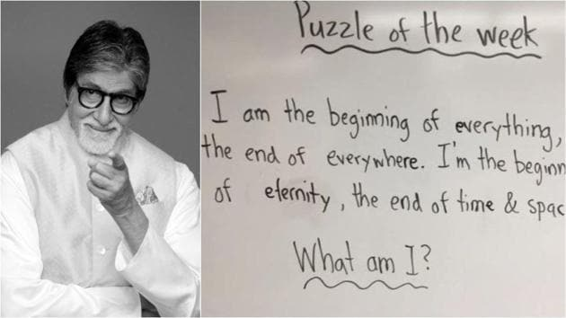 Amitabh Bachchan has a new riddle for his fans.