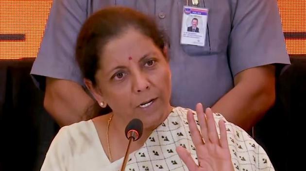 Union Finance Minister Nirmala Sitharaman addresses a press conference on Budget 2020, in Hyderabad on Sunday, Feb 16, 2020.(ANI)