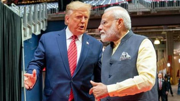 Prime Minister Narendra Modi with US President Donald Trump(ANI photo)