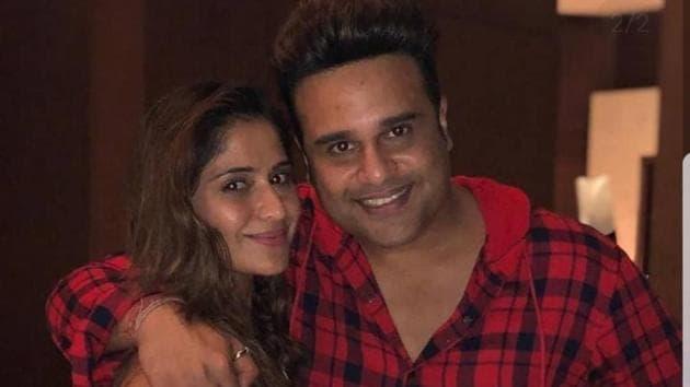 Arti Singh with her brother Krushna Abhishek.