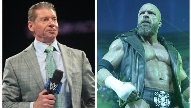 Vince McMahon and Triple H.(Twitter)