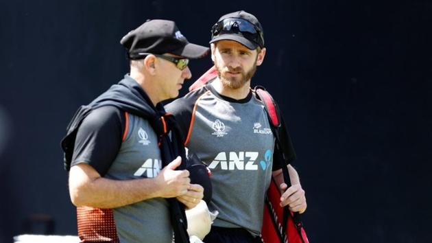 New Zealand's Kane Williamson and head coach Gary Stead during nets.(Action Images via Reuters)