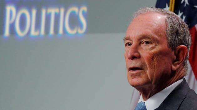 A late entry to the race, Bloomberg, 78, has risen in public opinion polls as he pours money from his estimated $60 billion personal fortune into a national campaign, spending hundreds of millions of dollars on television ads.(REUTERS)