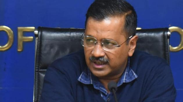 Arvind Kejriwal says he will ask the concerned department to take a swift decision on the permission to prosecute in the JNU sedition case.(HT Photo- Mohd Zakir)