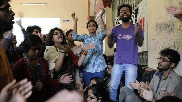 The Akhil Bharatiya Vidyarthi Parishad (ABVP) had put up its candidates for the first time in the students' union polls of JU, known as a hotbed of Left-wing politics. (Representational image)(HT file)